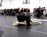Blue belt in BJJ against a Black belt in BJJ in NO-GI Finals. US Grappling.