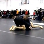 Blue belt in BJJ against a Black belt in BJJ in NO-GI Finals. US Grappling.