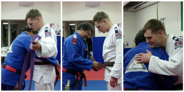 Lifetime of Dedicated Training Promoted to Brown Belt.