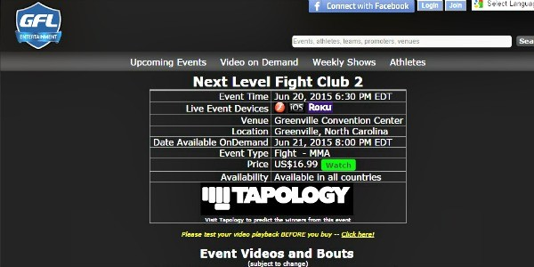 Watch The Local MMA Fights Tonight Streaming Online