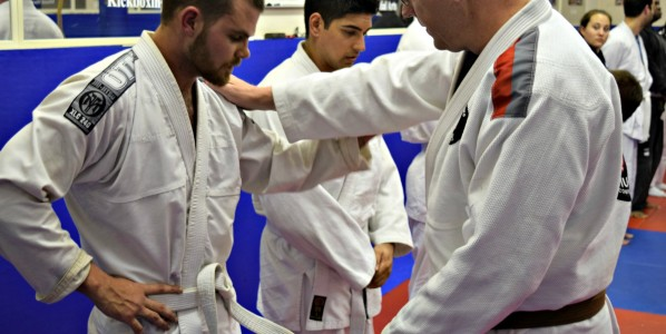 White Belt's First Stripe