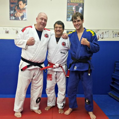 Father and Son Black Belt in Gracie Jiu-Jitsu.