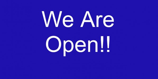 We are Open!! Well On Friday at 5PM We Are.